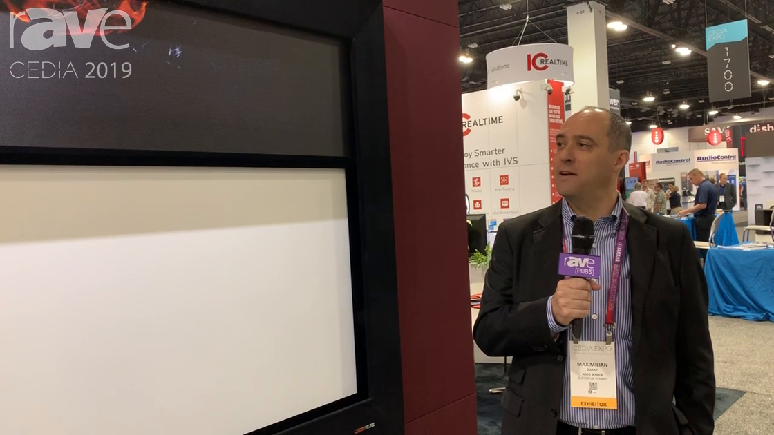 CEDIA 2019: Screen Research Demos Two-Way Masking Screen for High End Home Theater Use