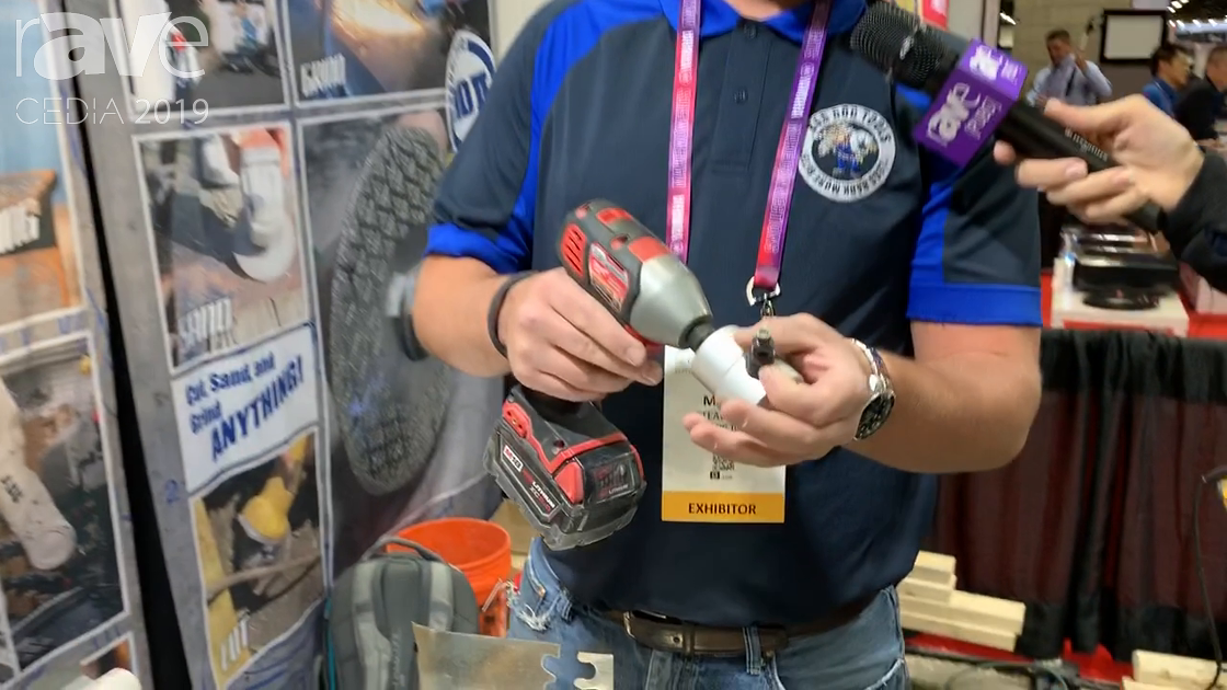 CEDIA 2019: Bad Dog Tools Demos Bad Dog Biter Patented Drill Mounted Nibbler