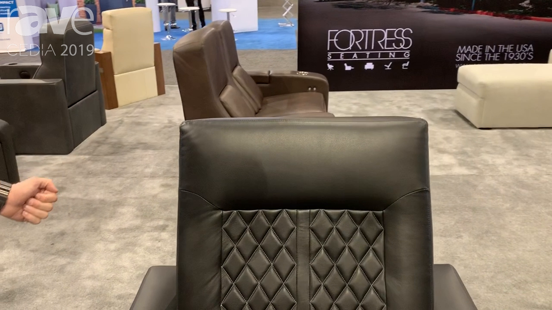 CEDIA 2019: Fortress Seating Shows Off Custom Home Theater Seating Solutions