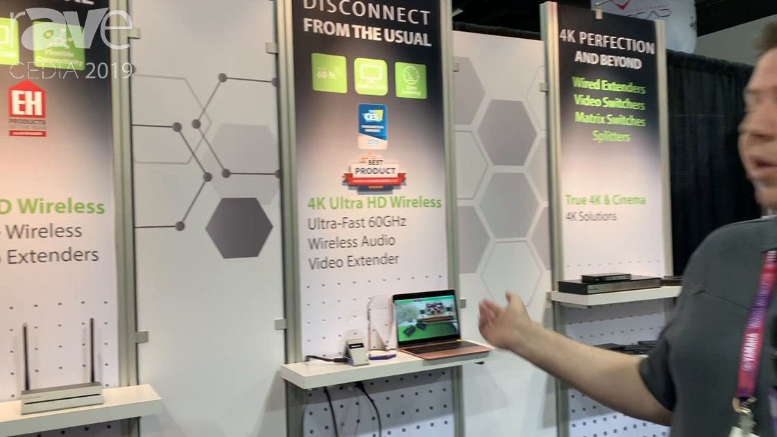 CEDIA 2019: IOGEAR Presents 4K 60GHz Ultra HD Wireless and Video Extender