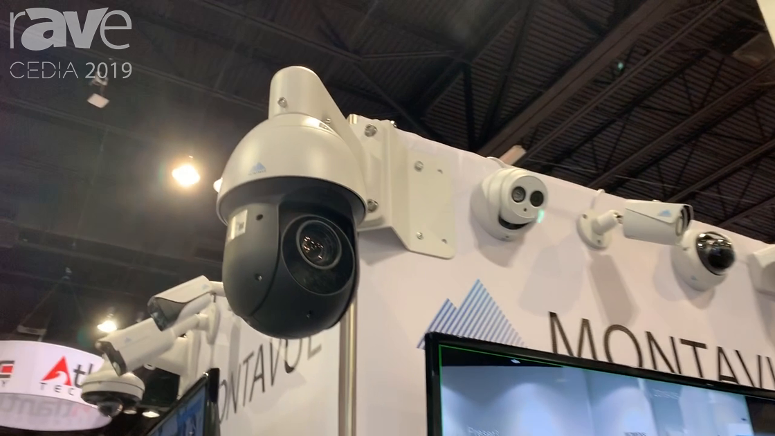 CEDIA 2019: MONTAVUE Showcases IP Cameras for Security Use