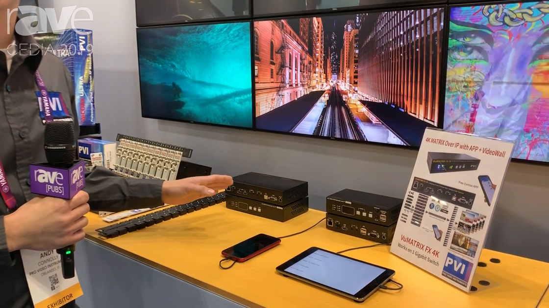 CEDIA 2019: ProVideoInstruments Features the VuMATRIX FX 4K Matrix-Over-IP With Video Wall App