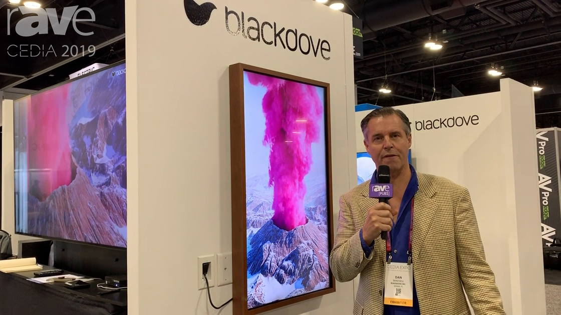 "CEDIA 2019: Blackdove Shows Off an ""Art-First"" TV, a Distribution Platform for Digital Art"