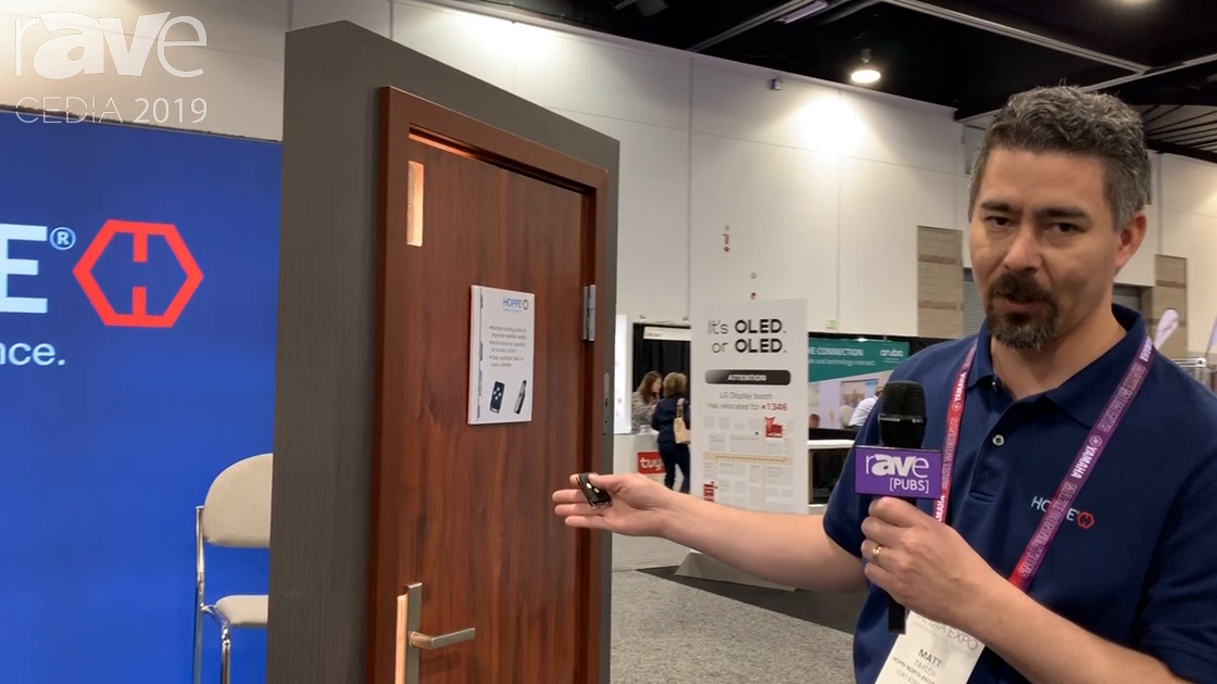CEDIA 2019: HOPPE Demos Its Electronic Multipoint Lock