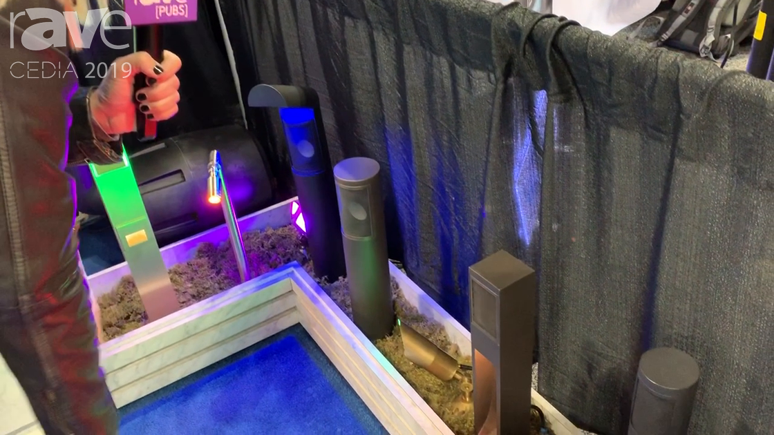 CEDIA 2019: Landscape Vibrations Shows Off 3″ Square Diameter Path Light with RGBW in Bronze Finish