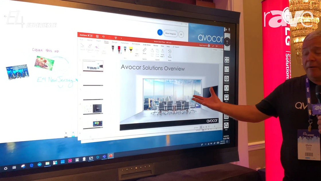 E4 Experience: Avocor Demos How the Windows Collaboration Display Works
