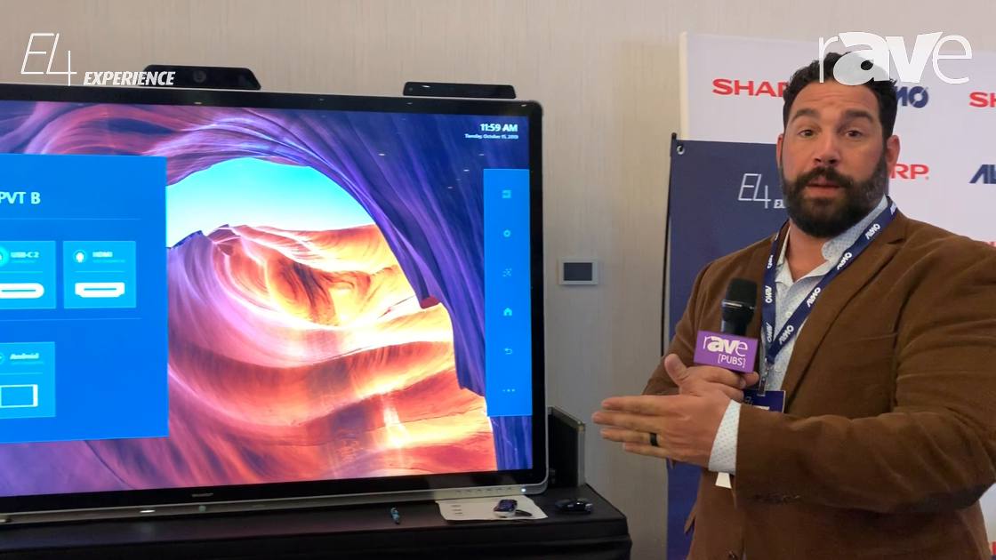 E4 Experience: Sharp Overviews Windows Collaboration Display With Built-In Camera and IoT Sensor Hub