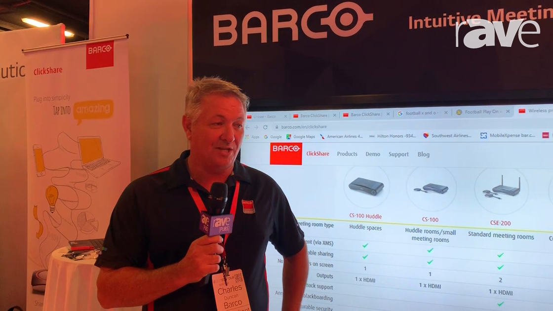 NYDSW: Barco Demos ClickShare CES-200+ with Annotation for Easy Collaboration at the LG TechTour