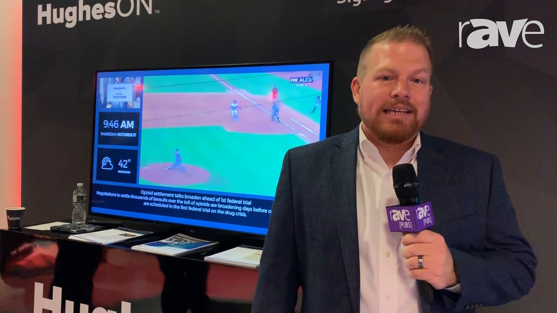 NYDSW: Hughes Demos Hughes Media Signage, a Cloud-Based CMS for Digital Signage at the LG TechTour