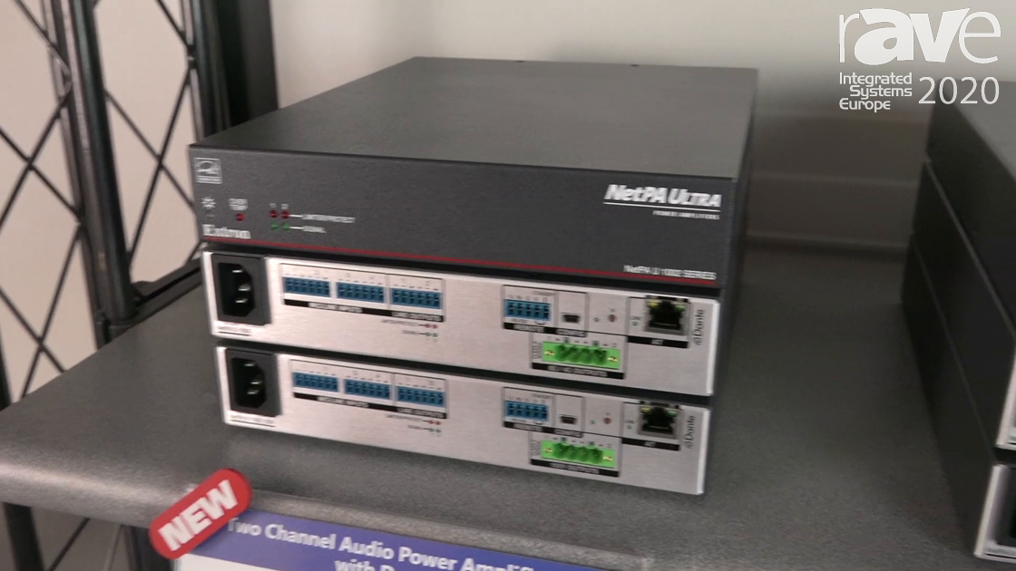 ISE 2020: Extron Shows NetPA Ultra Power Amplifiers with Dante and Integrated DSP