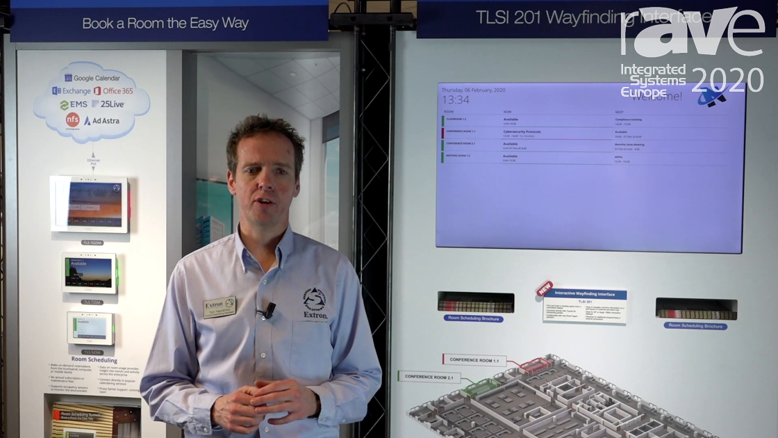 ISE 2020: Extron Features TLSI 201 Interactive Wayfinding Interface