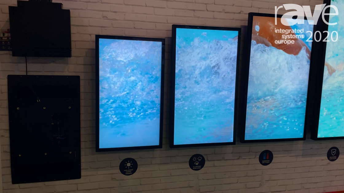 ISE 2020: Peerless-AV Highlights Its IP68, 2500-Nit XHB Xtreme Outdoor Displays, Now in 65-Inch