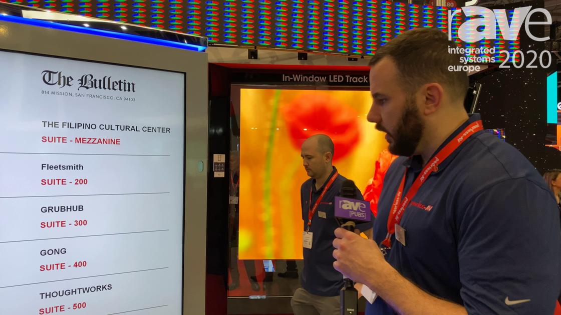 ISE 2020: Peerless-AV Showcases the Back-to-Back Indoor Wayfinding Kiosk
