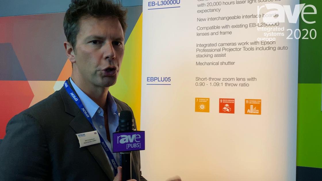 ISE 2020: Epson Features EB-L30000U 30K-Lumen WUXGA Laser Projector