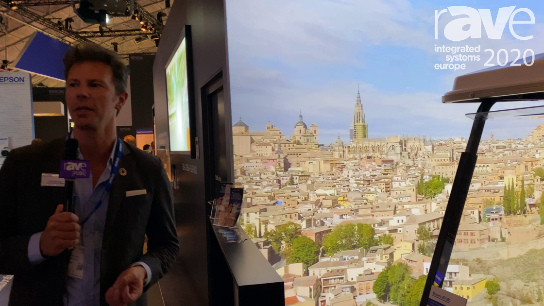 ISE 2020: Epson Demos Moverio BT-350 Smart AR Glasses in Unique Sightseeing Tour Simulation Demo