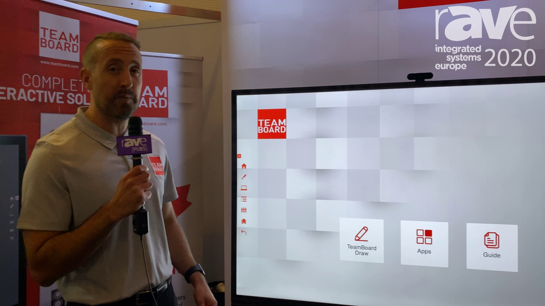 ISE 2020: TeamBoard Launches New Range of Interactive Flat Panels