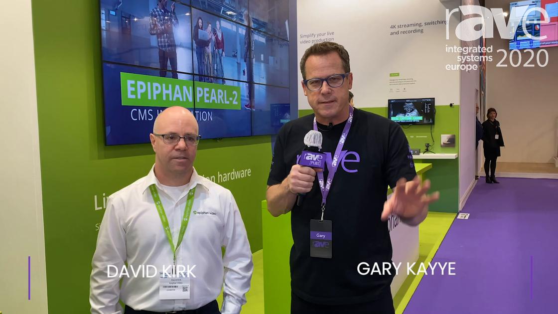 ISE 2020: David Kirk of Epiphan Intros Gary Kayye to Live Script Real-Time Transcription Appliance