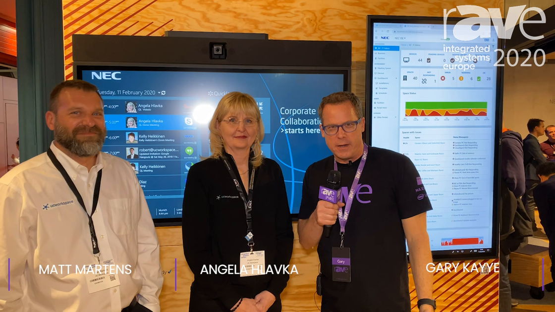 ISE 2020: UC Workspace Demos New QuickLaunch UI and RMS on an NEC Display InfinityBoard