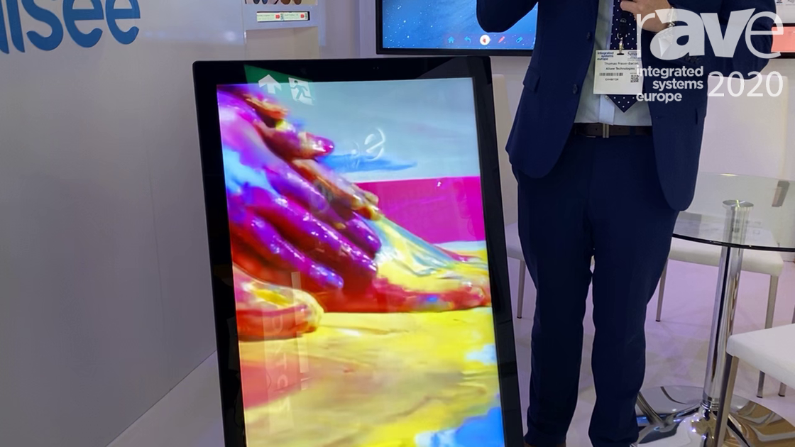 ISE 2020: Allsee Technologies Shows Off 43″ Outdoor Battery-Powered A-Board, IP65 Rated Solution