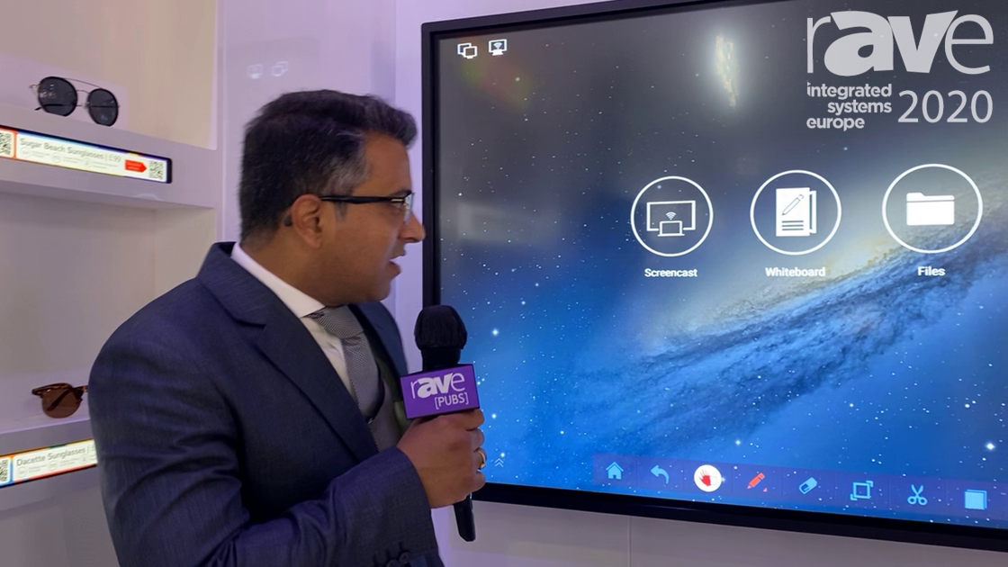 ISE 2020: Allsee Technologies Demos 4K Slim Bezel Interactive Touch Display (Hindi)