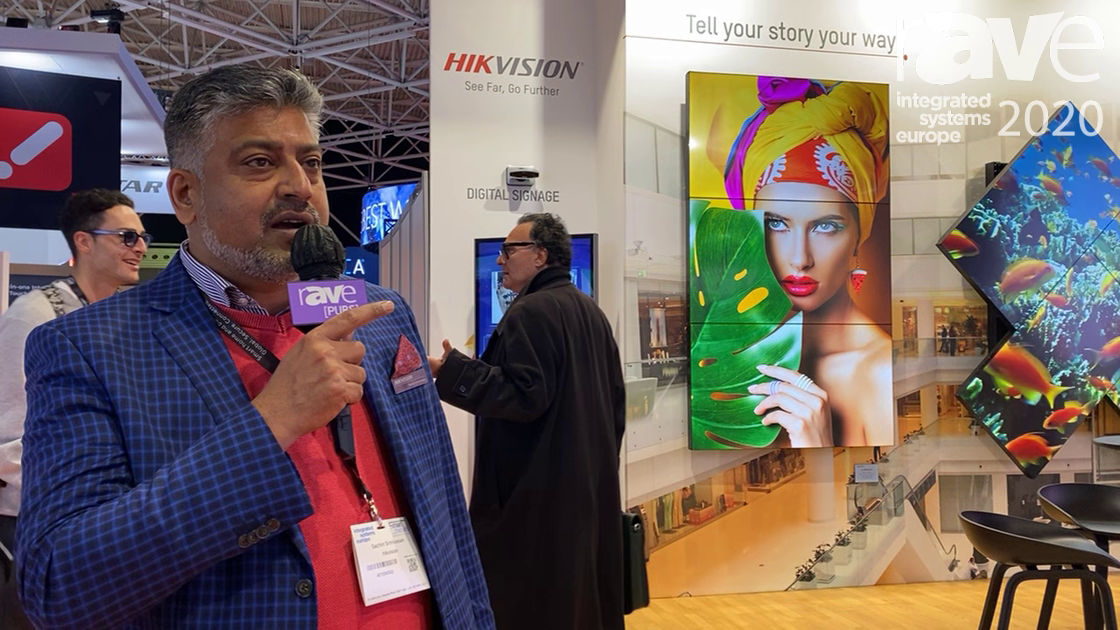 ISE 2020: Hikvision Showcases DS-D4215FI-CWF, 1.56 mm LED Wall and Full HD Display Solution