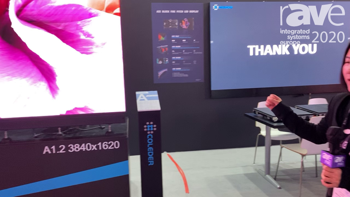 ISE 2020: Coleder Exhibits Its A1.2 ACE BLOCK, Ultra HD Fine-Pitch LED Display