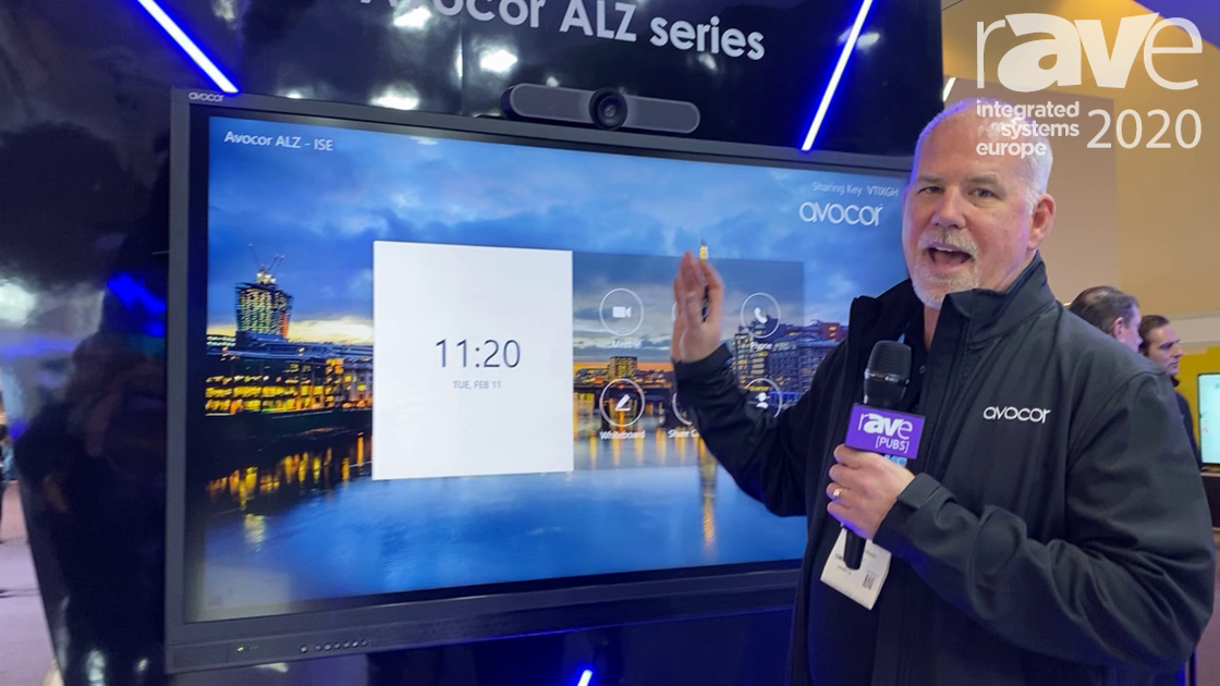 ISE 2020: Avocor Talks ALZ Series Interactive Display, Designed with Logitech MeetUp for Zoom Rooms
