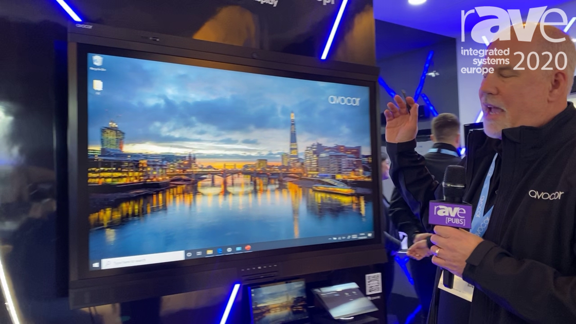 ISE 2020: Avocor Showcases AVW-6555 All-in-One Collaboration Display with Microsoft
