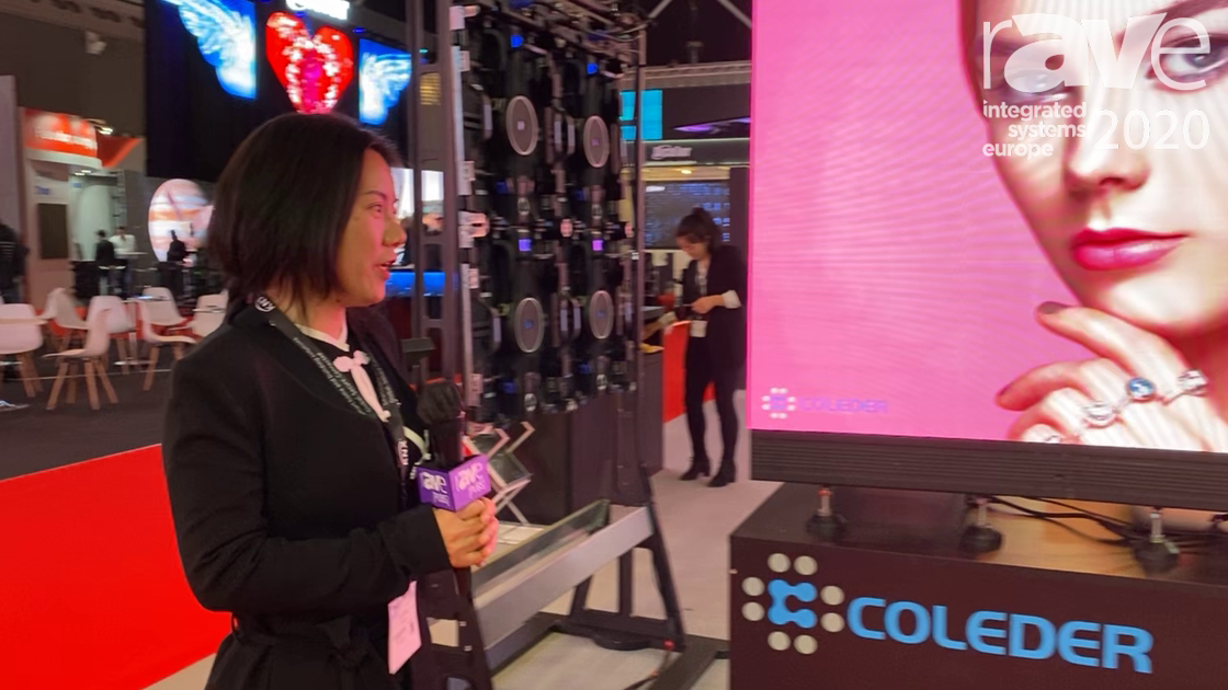 ISE 2020: Coleder Showcases Its A1.2 ACE BLOCK, Module-Based Curved LED Display Panel