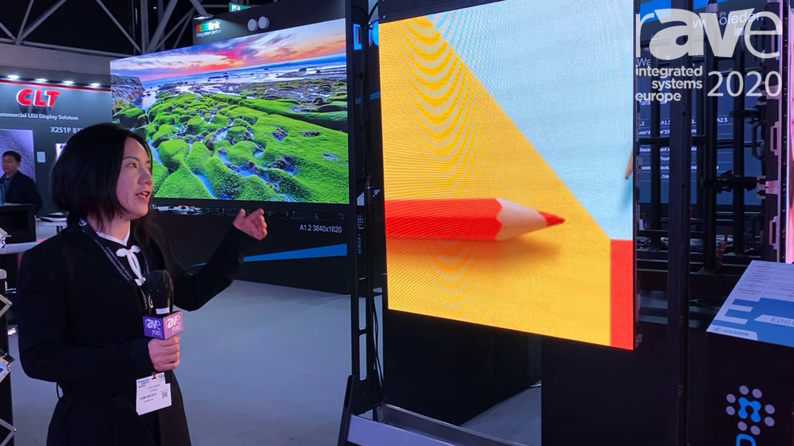 ISE 2020: Coleder Markets EDGE LED Panel, Fine-Pitch Rental Panel for Staging and Events