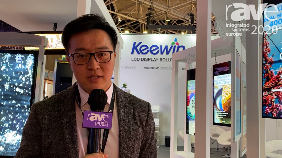ISE 2020: Keewin Display Co Showcases Range of Dual-Sided Digital LCD Window Displays