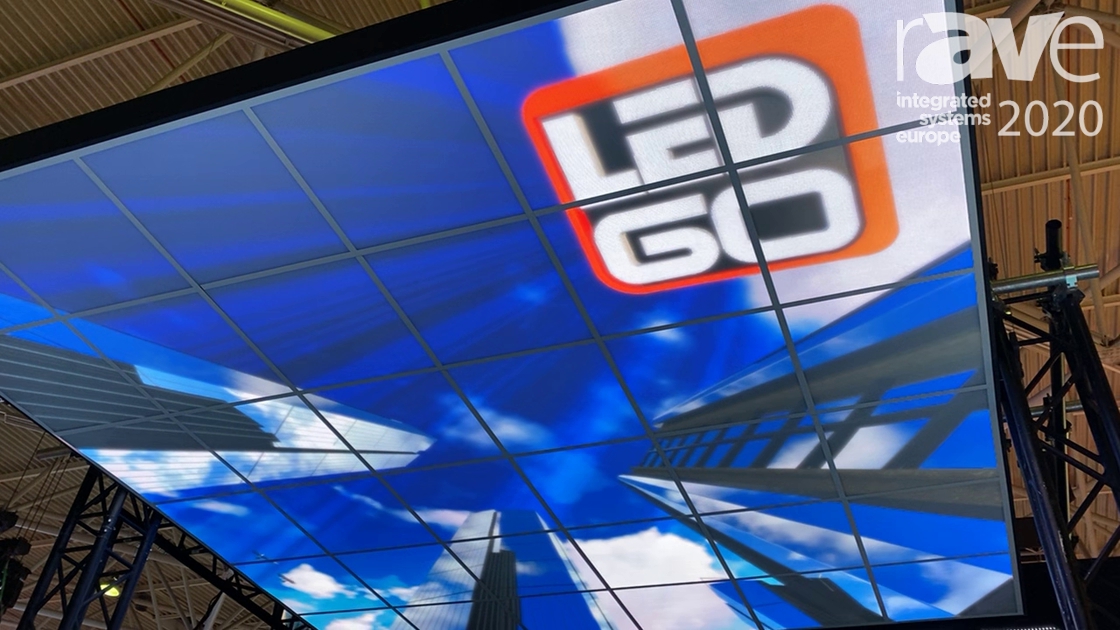 ISE 2020: LedGo Shows LED Ceiling Video Panel, Ability to Change Any Drop Ceiling Into Video Screen