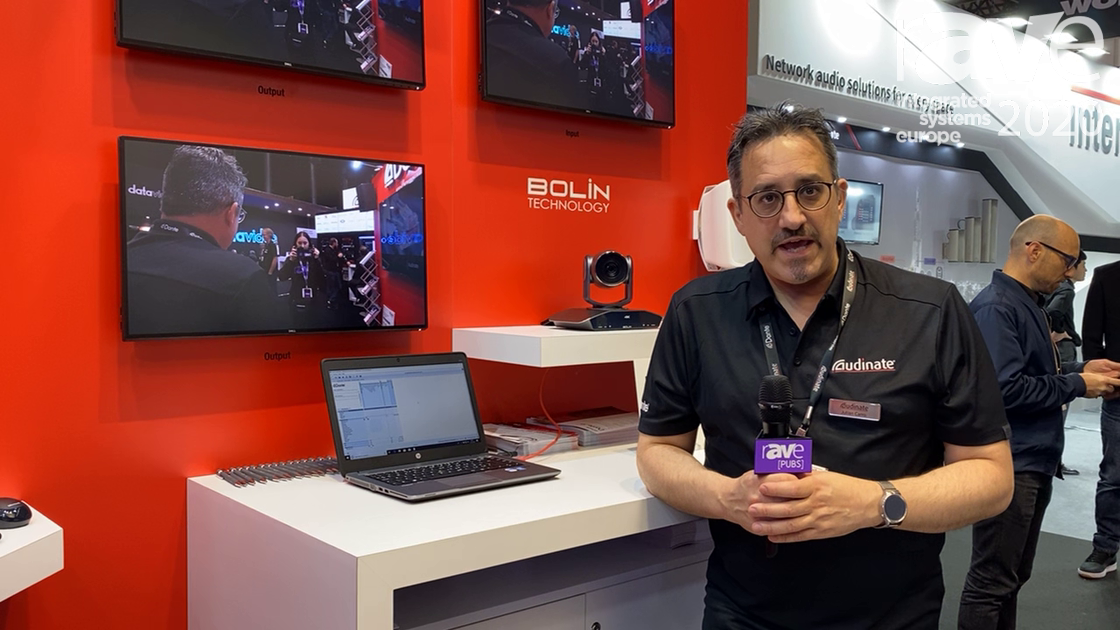ISE 2020: Audinate Showcases New Dante Video-Over-IP Solution, Shows Bolin PTZ Camera With Dante AV