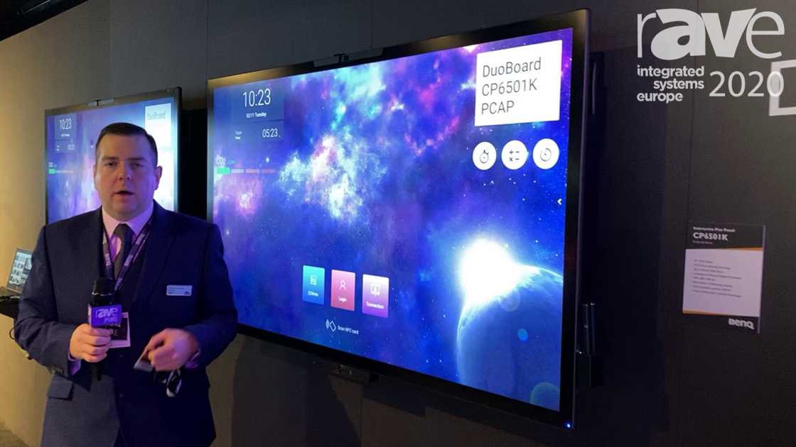 ISE 2020: BenQ Features the CP6501K Interactive Flat Panel With PCAP Direct Bonding Technology