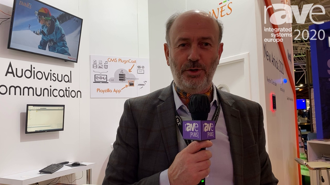 ISE 2020: Innes Showcases SBL10 Connected Bulb, Smart Building Signage for Room Booking