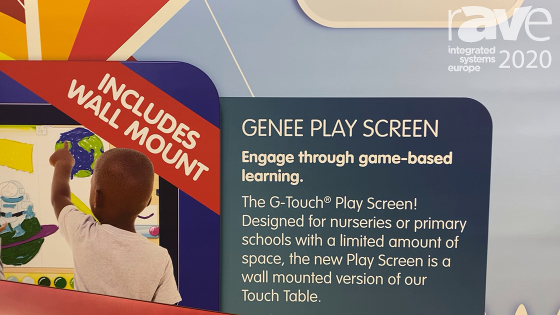 ISE 2020: Genee World Showcases 32-Inch G-Touch Table with G-Safe Software for Education