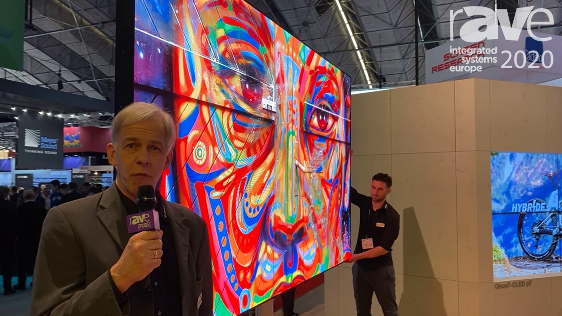 ISE 2020: LANG AG Distributes fLED Single-Unit LED Screen Mounted on EXACT solutions Titan Stand