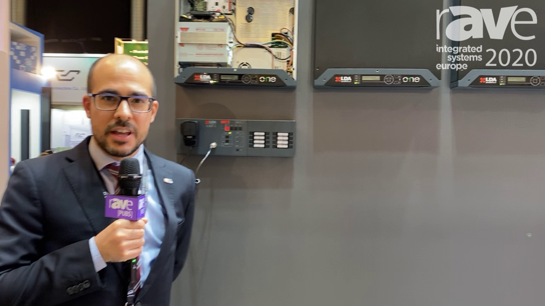 ISE 2020: LDA Audio Tech Showcases One, Wall- or Rack-Mounted PA/VA System with Network Card