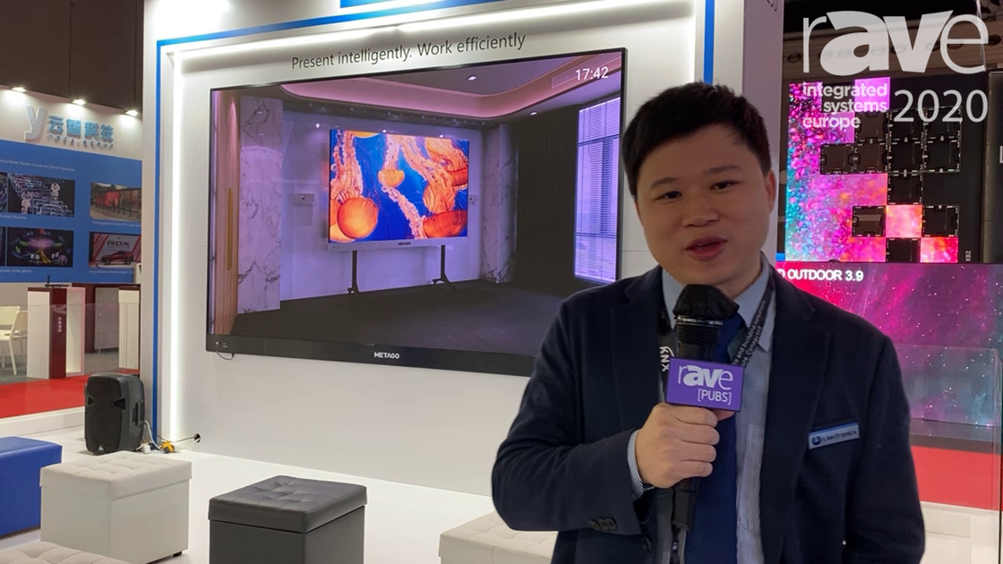 ISE 2020: LianTronics Demos METAGO Integrated LED Display Terminal for Use in Collaboration Rooms