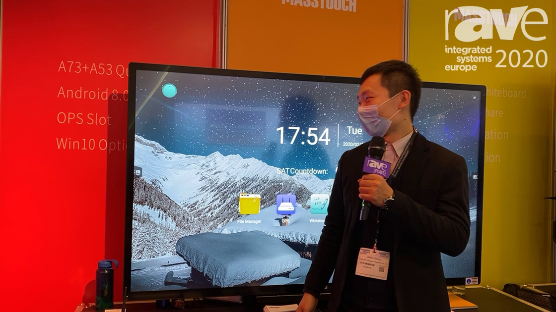 ISE 2020: MASSTOUCH Expos 75-Inch 4K UHD Integrated, Interactive Touch Flat Panel