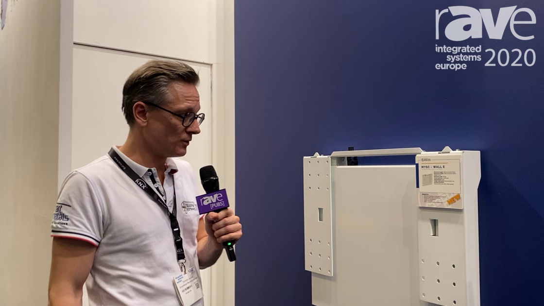 ISE 2020: SmartMetals Shows MoveYourScreen.com MYSC – WALL E Height-Adjustment System for Displays