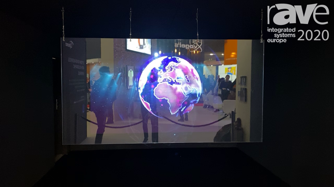 ISE 2020: Optoma Demos Unique Holographic Experience Using FHD-Q130 LED Display and ZU-722 Projector