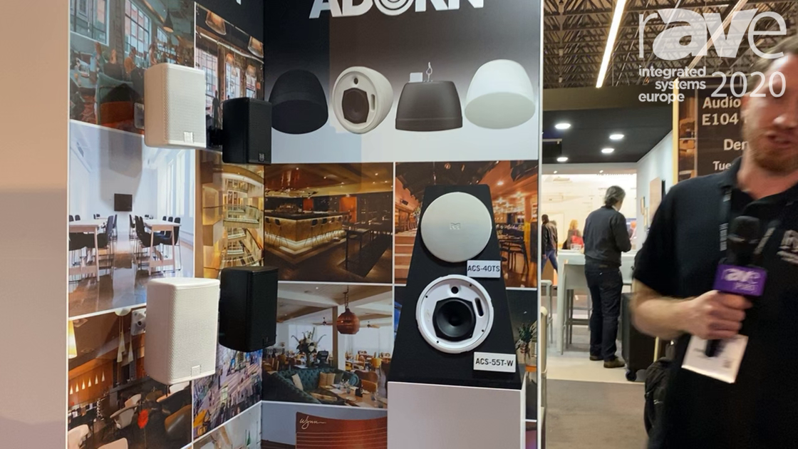 ISE 2020: Martin Audio Shows Ceiling-Speaker Range and Pendant Loudspeaker in ADORN Series
