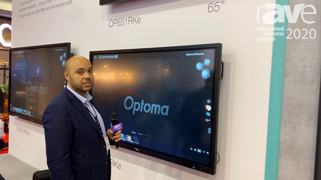 ISE 2020: Optoma Demos Presentation System Using Interactive Flat Panel and 130″ dvLED Display
