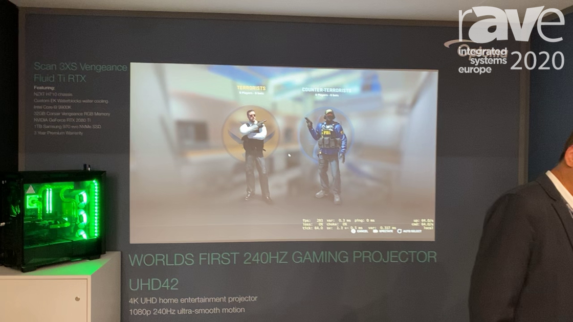 ISE 2020: Optoma Reveals the UHD 42, a 240Hz Gaming Projector
