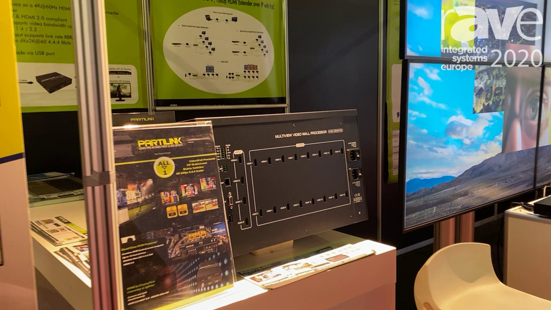 ISE 2020: Partilink Shows Off V43-H04H16 Multiview Video Wall Processor
