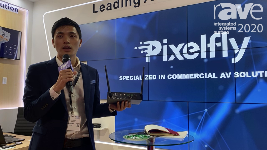 ISE 2020: Pixelfly Demos PF-WMS42SW Presentation Switcher with Wireless Presentation Capability