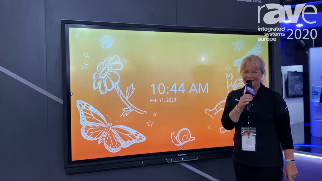 ISE 2020: Promethean Demos 86-Inch ActivPanel Titanium Interactive Display with Android Interface