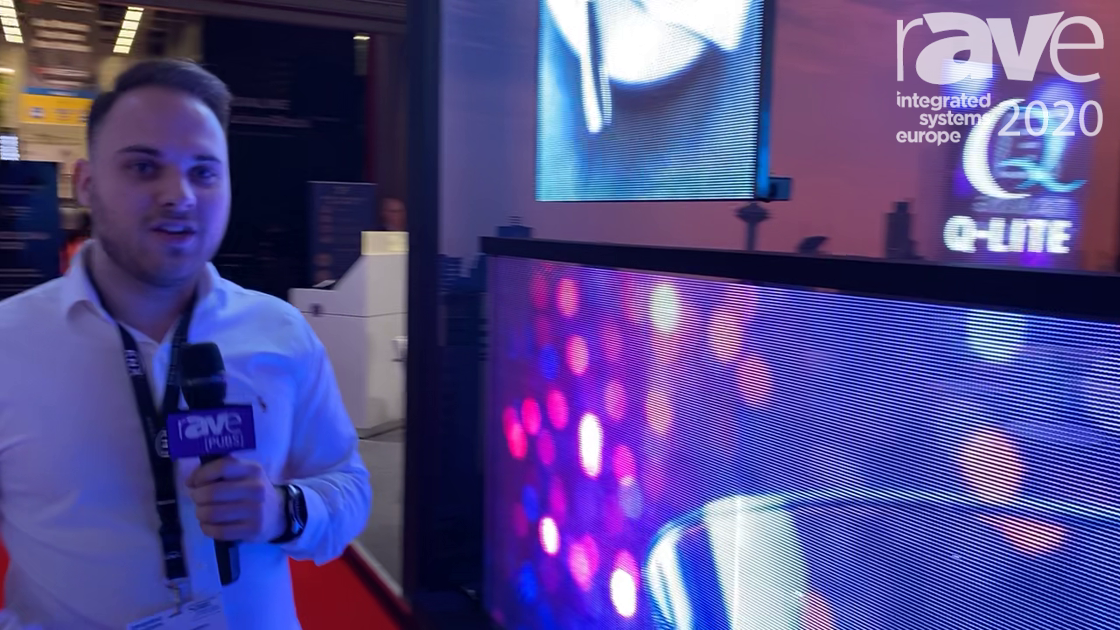 ISE 2020: Q-Lite Presents Talking Windows, Light and Transparent LED Window for Indoor Use