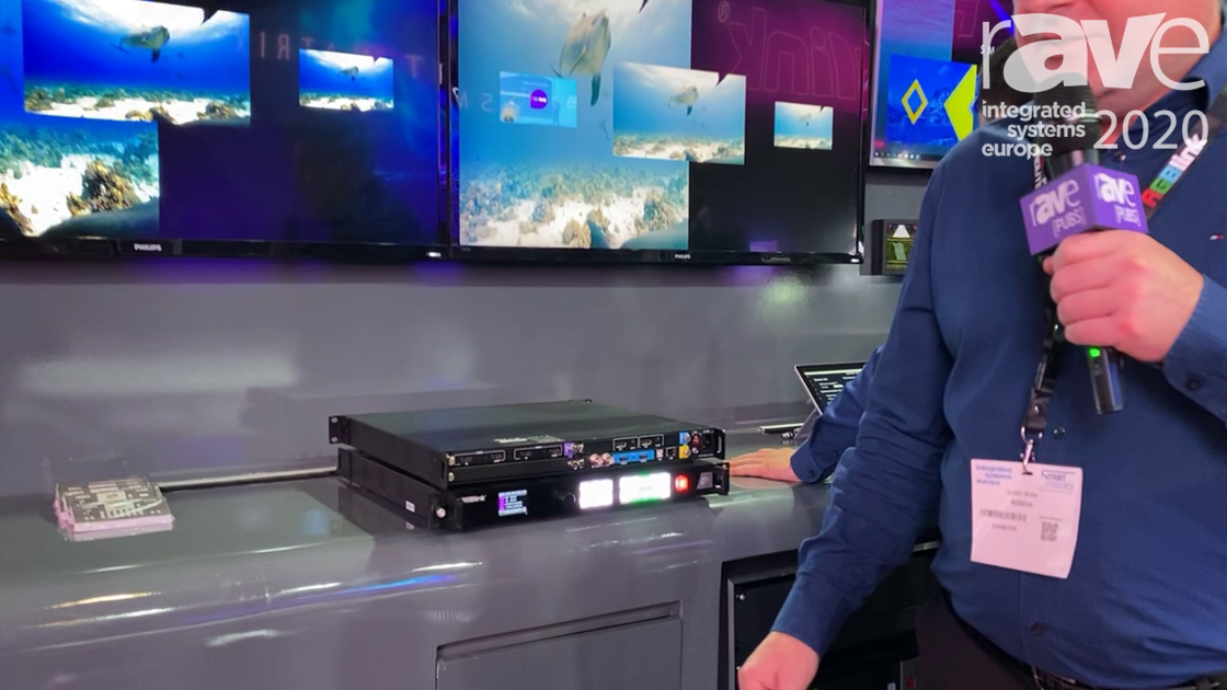 ISE 2020: RGBlink Demos D4 4K Presentation Processor and Switch with Modular Design